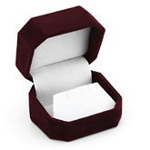 Clip-Corner Burgundy Flap Earring Box