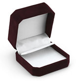Clip-Corner Burgundy Drop Earring Box
