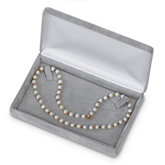 Soft-Suede Platinum Necklace Box