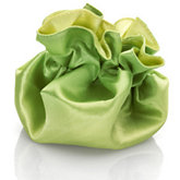 Round Satin Pouch with Drawstring Yellow/Lime