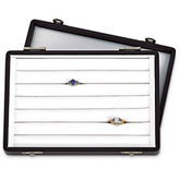 6 Slot Universal Ring Case with Removable Hinged Lid