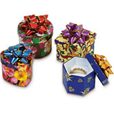 Patterned Paper Box With Star Bow Pack of 48