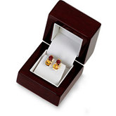 Cherrywood Collection Flap Earring Box