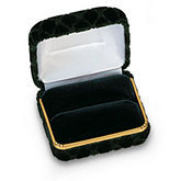 Quilted Velvet Green Single / Double Ring Box