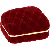 Quilted Velvet Red Single / Double Ring Box