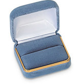 Silver Cloud Velvet Single / Double Ring Box