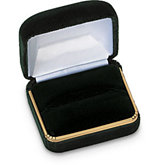 Dark Green Velvet Single / Double Ring Box