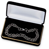Silver Cloud Velvet Necklace Box
