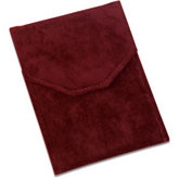 Burgundy Soft-Suede Pearl or Necklace Folder
