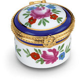 Round Porcelain Hinged Box