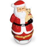 Santa Shaped Porcelain Hinged Box