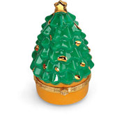 Christmas Tree Shaped Porcelain Hinged Box