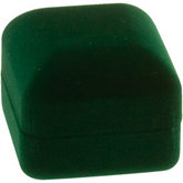Hunter Green Veltex Single Ring Box
