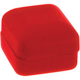 Rumba Red Veltex Single Ring Box