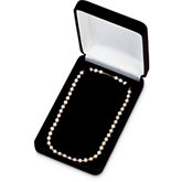 Black Veltex Necklace Box