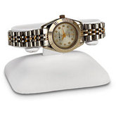 White Leatherette Horizontal Watch Collar
