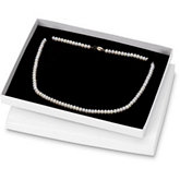 White Necklace Box With Black Insert