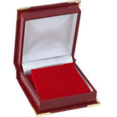 Red Crocodile Grain Flap Earring Box