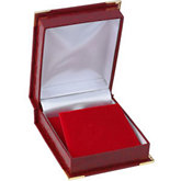 Red Crocodile Grain Pendant or Earring Box