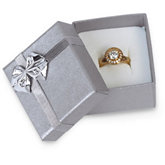 Silver/Silver Ring or Earring Box Pack of 36