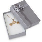 Silver/Silver Large Pendant or Earring Box Pack of 36