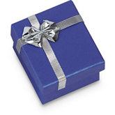Blue/Silver Ring or Earring Box Pack of 36