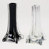 Black Glass Tapered Bud Vase