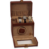 Brown Leather Watch Winder