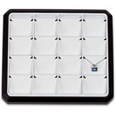 16 Pendant Stackable Tray, Black with White Pads