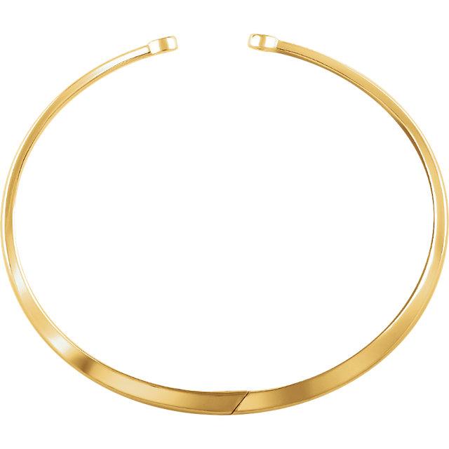 14K Yellow 1/6 CTW Diamond Hinged Bangle Bracelet