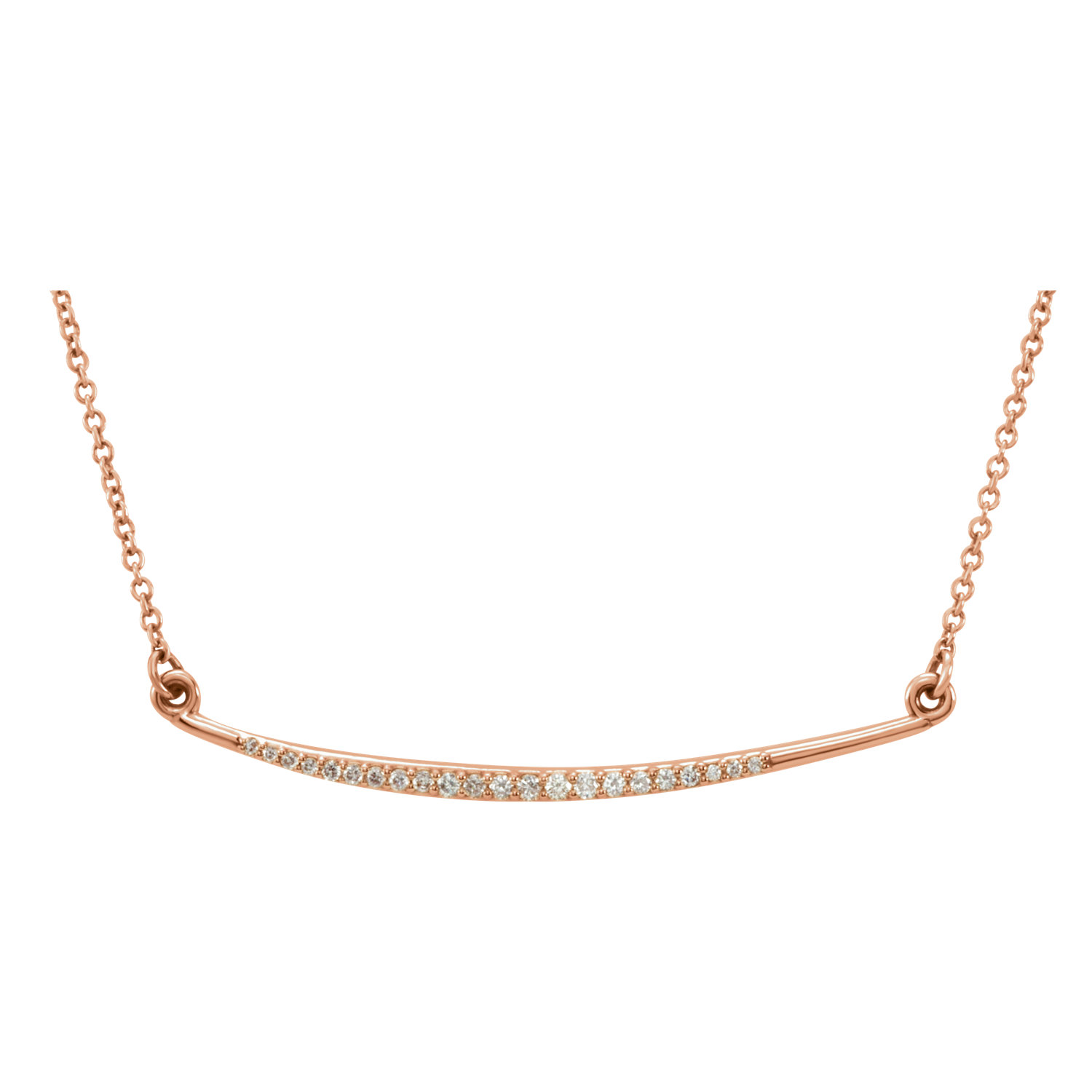 "14kt Rose 1/8 CTW Diamond 16"" Necklace"