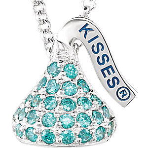 Sterling Silver December HERSHEYS KISSES Aubic Zirconia 16-1