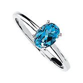 Genuine Swiss Blue Topaz Ring