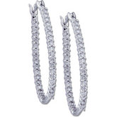 Diamond Inside/Outside Hoop Earrings