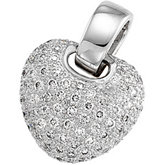 1 ct tw Pavé Diamond Pendant