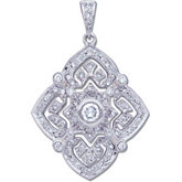 1/2 ct tw Diamond Pendant