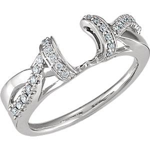 14K White 1/5 CTW Diamond Ring Wrap