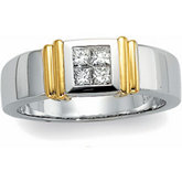 1/2 ct tw Invisible Set Diamond Duo Band