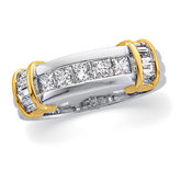 3/4 ct tw Diamond Two Tone Wedding Band