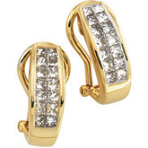 1 ct tw Invisible Set Diamond Earrings
