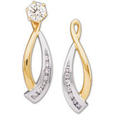 1/5 ct tw Diamond Earring Jacket