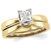 Princess-Cut Diamond Solitaire Tulipset® Ring