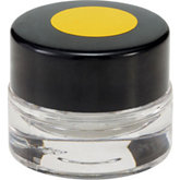 Glass Container with Yellow Marked Lid