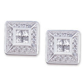 1/2 ct tw Invisible Set Diamond Earrings