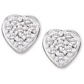 1/10 ct tw Diamond Heart Earring