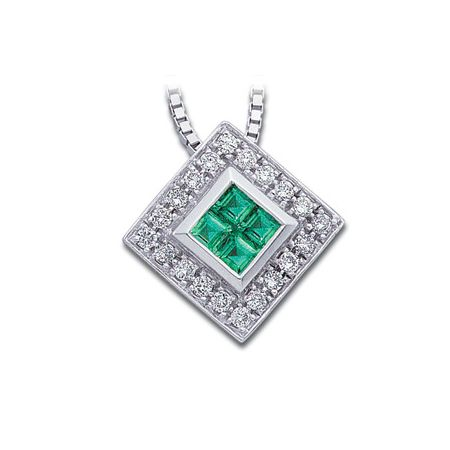 Genuine Emerald and Diamond Necklace