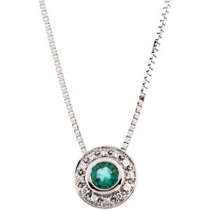 Genuine Emerald & Diamond Necklace