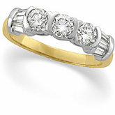1 ct tw Diamond 3-Stone Ring