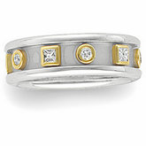 3/8 ct tw Diamond Etruscan-Inspired Band