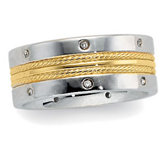 .08 ct tw Diamond Duo Band